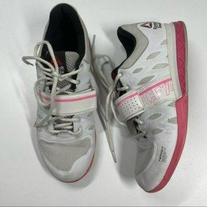 Reebok Crossfit Lifter 2.0 Pink White Shoes 9.5
